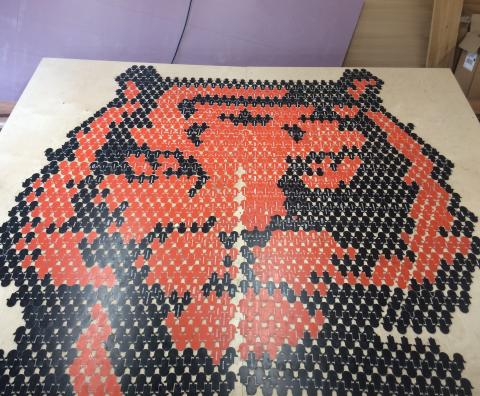 Tiger's head mosaic
